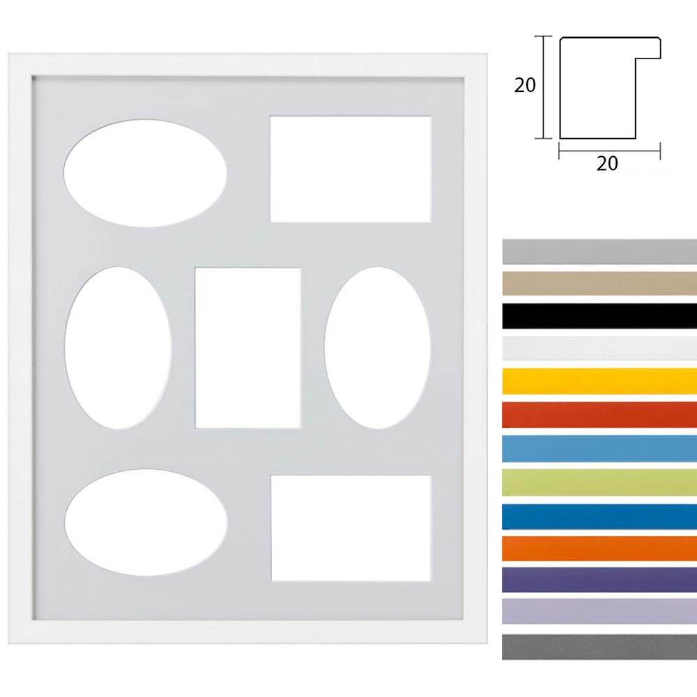 Marco galería Top Cube en 40x50 cm para 7 fotos