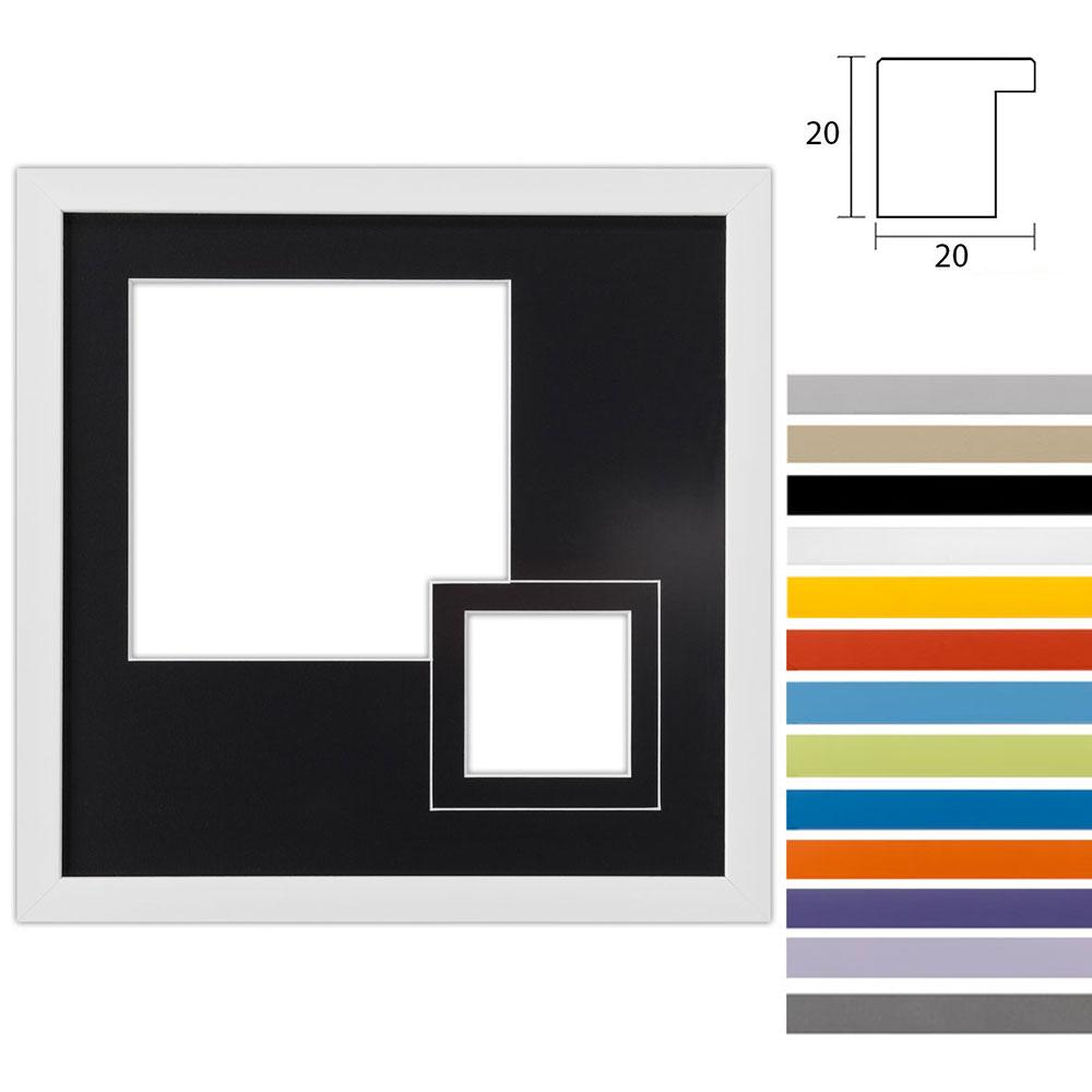 Marco galería Top Cube en 30x30 cm para 2 fotos