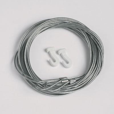 50 piezas cable de acero 1,3mm/200cm con lazo para ganchos deslizables (max. capacidad de carga 7 kg)