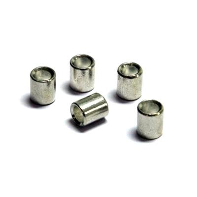 100 piezas ojo para prensar para cuerda perlon (2mm) y cable de acero, blanco (1,5mm)
