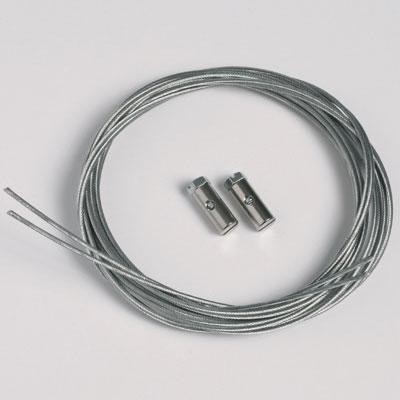 2 piezas cable de acero 1,3mm/200cm tornillas deslizables