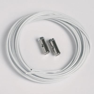 2 piezas cable de acero blanco 1,5mm/200cm tornillas deslizables