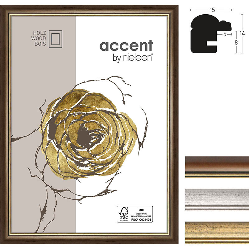 Marco de madera Ascot