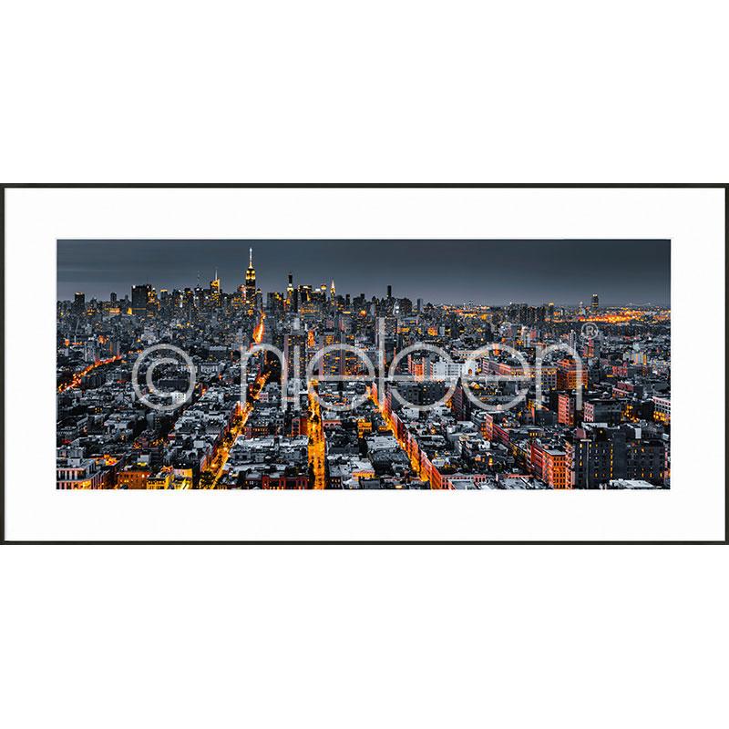 "Imagen con marco ""New York Skyline"" con marco de alumino C2"