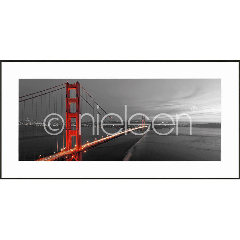 """Imagen con marco """"Golden Gate Bridge"""" con marco de alumino C2"""