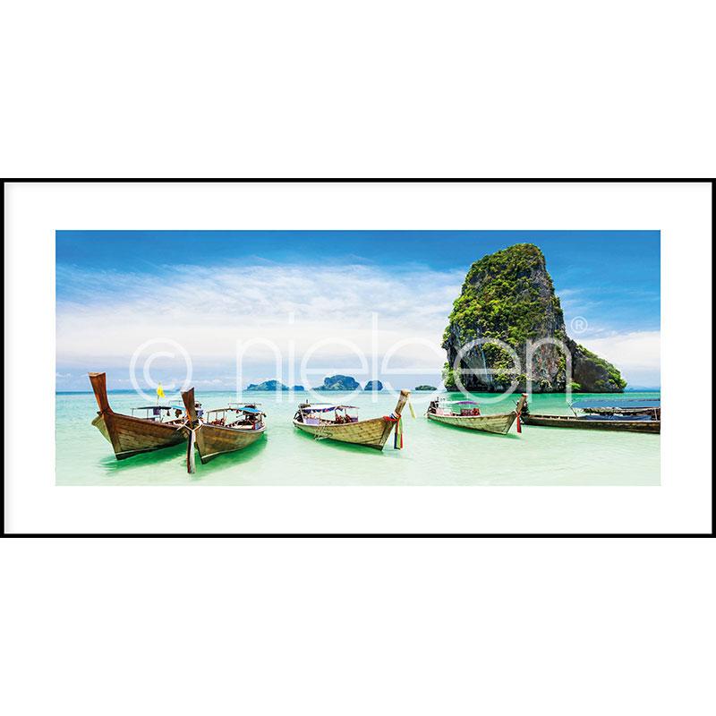 """Imagen con marco """"Exotic Island"""" con marco de alumino C2"""