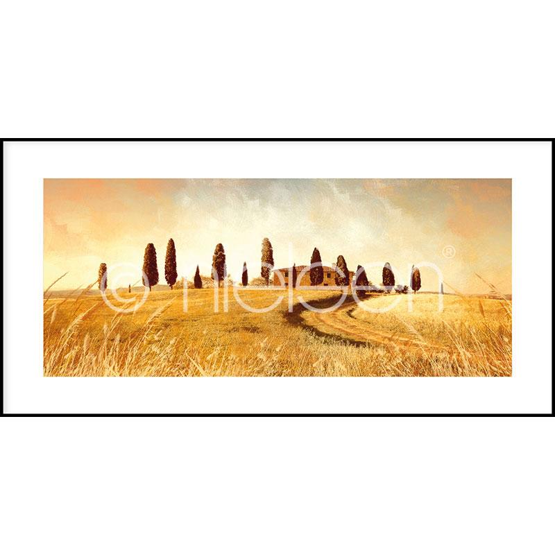 """Imagen con marco """"Landscape Italy"""" con marco de alumino C2"""
