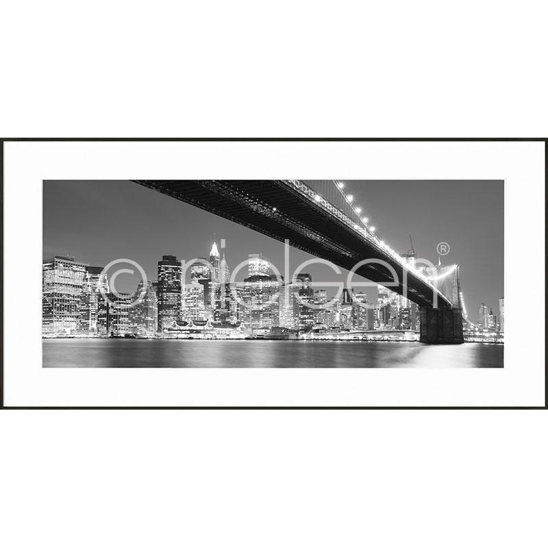 """Imagen con marco """"Brooklyn Bridge"""" con marco de alumino C2"""