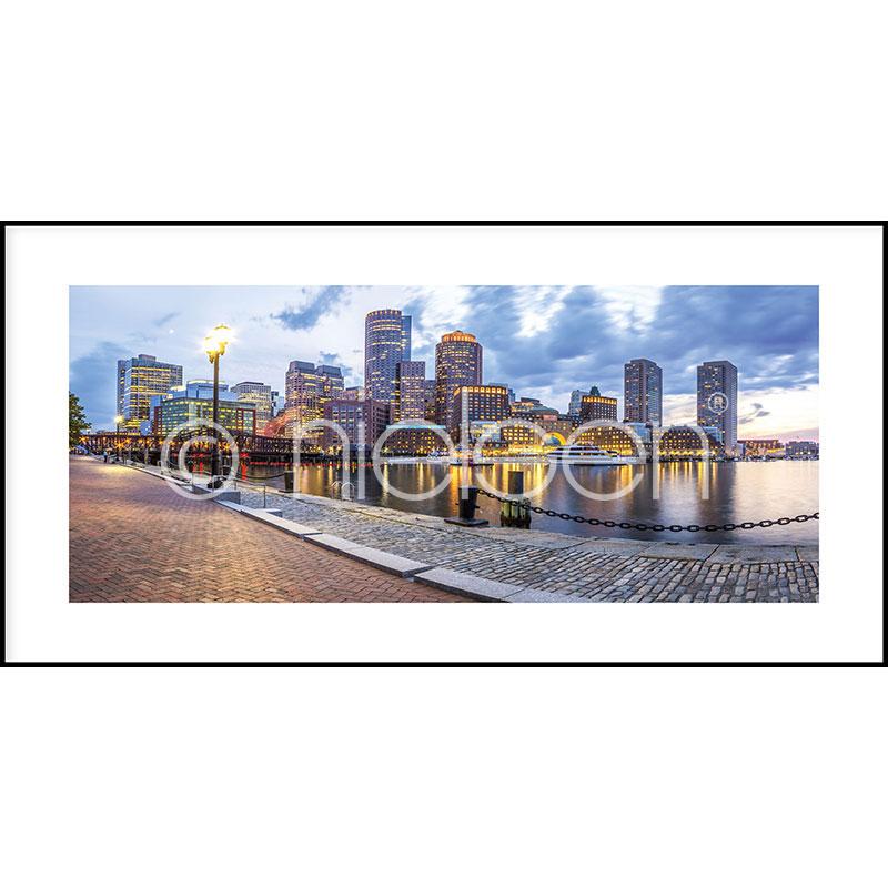 """Imagen con marco """"Promenade"""" con marco de alumino C2"""