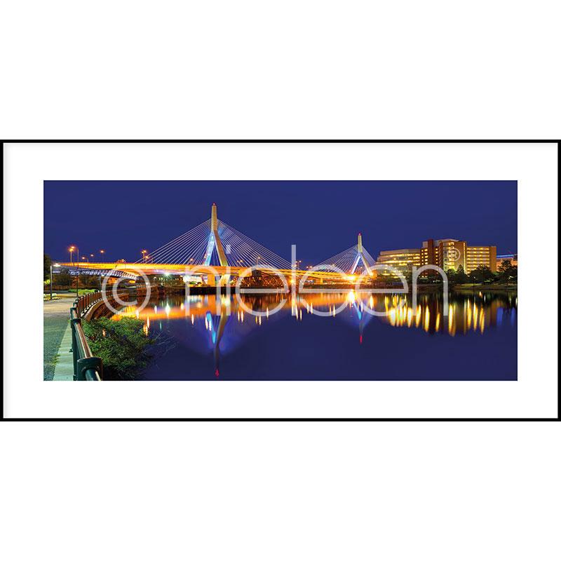 """Imagen con marco """"Bridge at Night"""" con marco de alumino C2"""