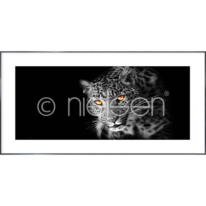 "Imagen con marco ""Leopard"" con marco de alumino Alpha"
