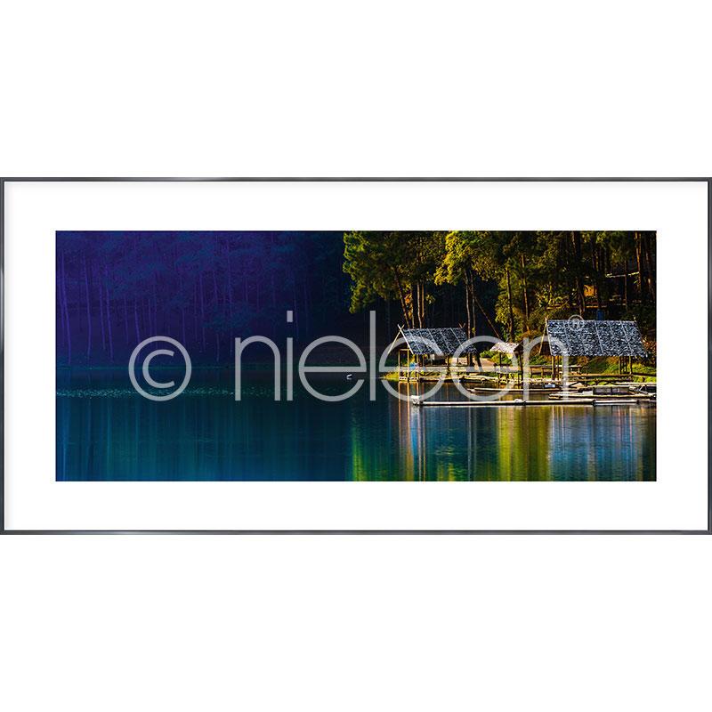 """Imagen con marco """"Lake"""" con marco de alumino Alpha"""