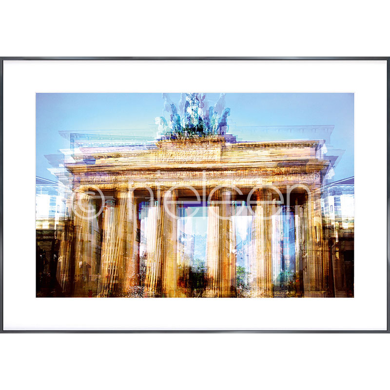 """Imagen con marco """"Brandenburg Gate"""" con marco de alumino Alpha"""