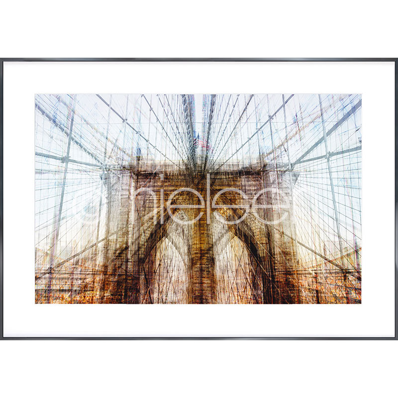 """Imagen con marco """"Brooklyn Bridge"""" con marco de alumino Alpha"""