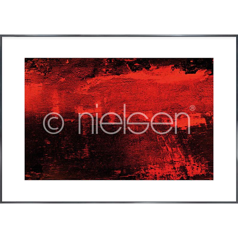 """Imagen con marco """"Abstract red I"""" con marco de alumino Alpha"""