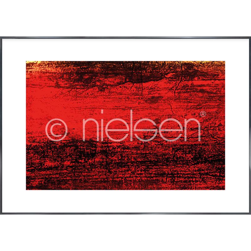 """Imagen con marco """"Abstract red II"""" con marco de alumino Alpha"""