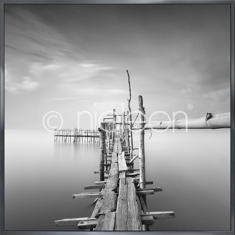 "Imagen con marco ""Malaysian Fishing I"" con marco de alumino Alpha"