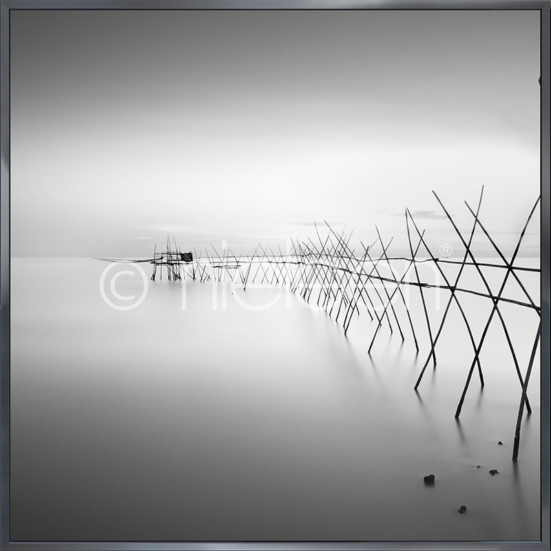 "Imagen con marco ""Malaysian Fishing II"" con marco de alumino Alpha"