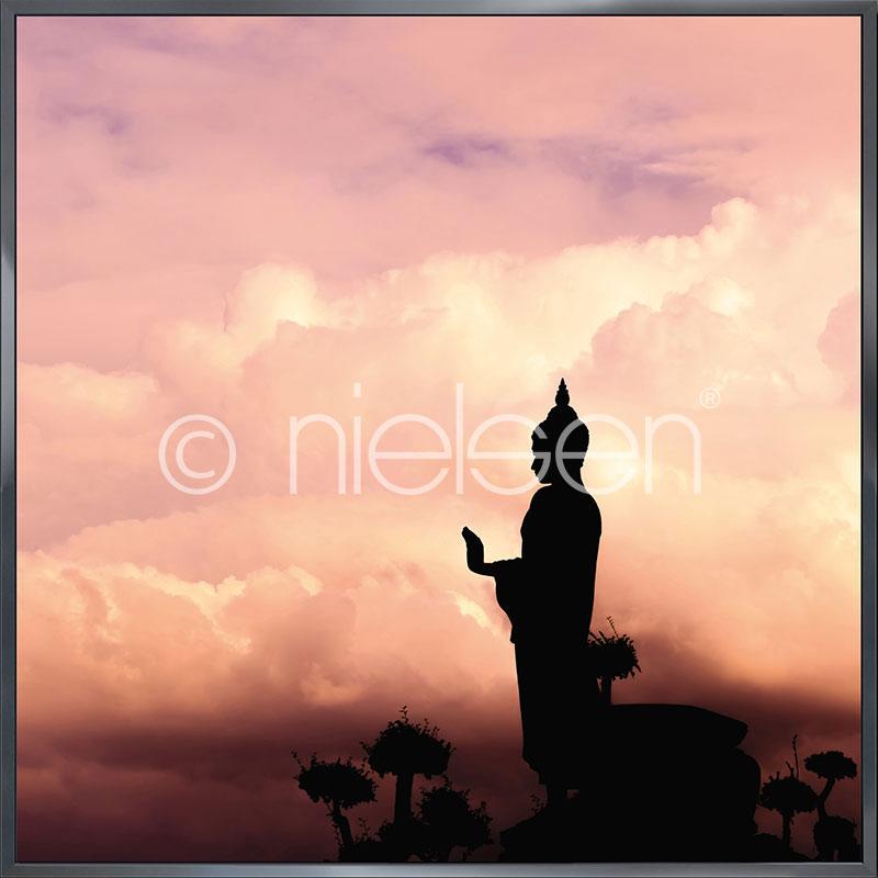"""Imagen con marco """"Buddha"""" con marco de alumino Alpha"""