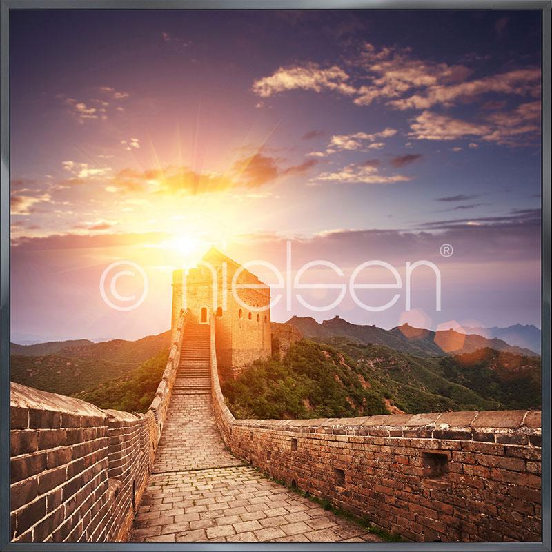 """Imagen con marco """"Chinese Wall"""" con marco de alumino Alpha"""