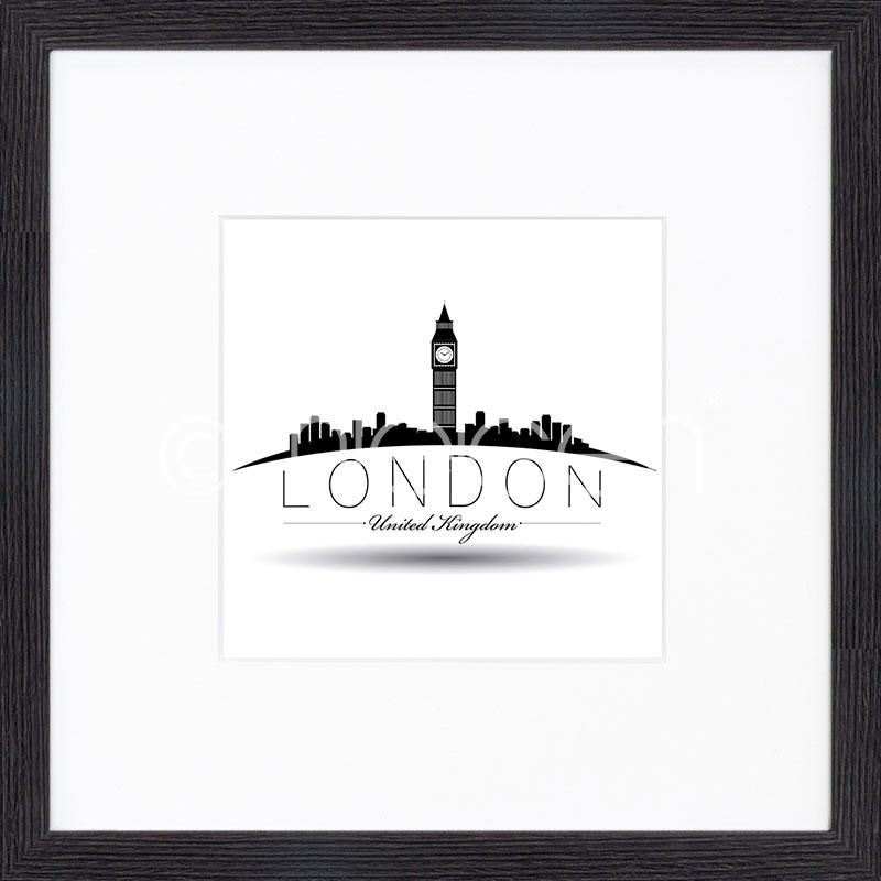 "Imagen con marco ""London"" mit Marco de madera Quadrum"