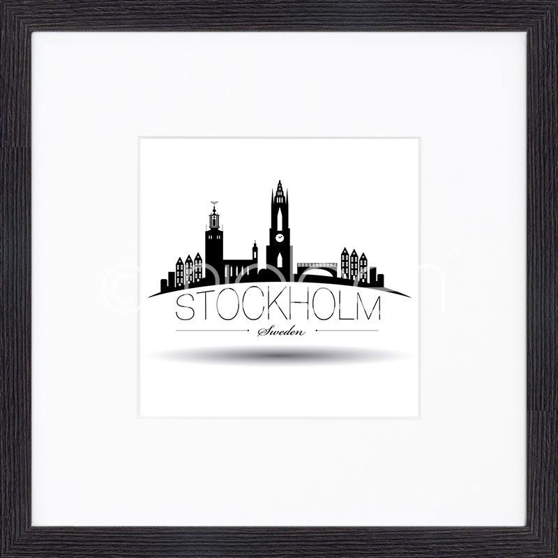 "Imagen con marco ""Stockholm"" mit Marco de madera Quadrum"