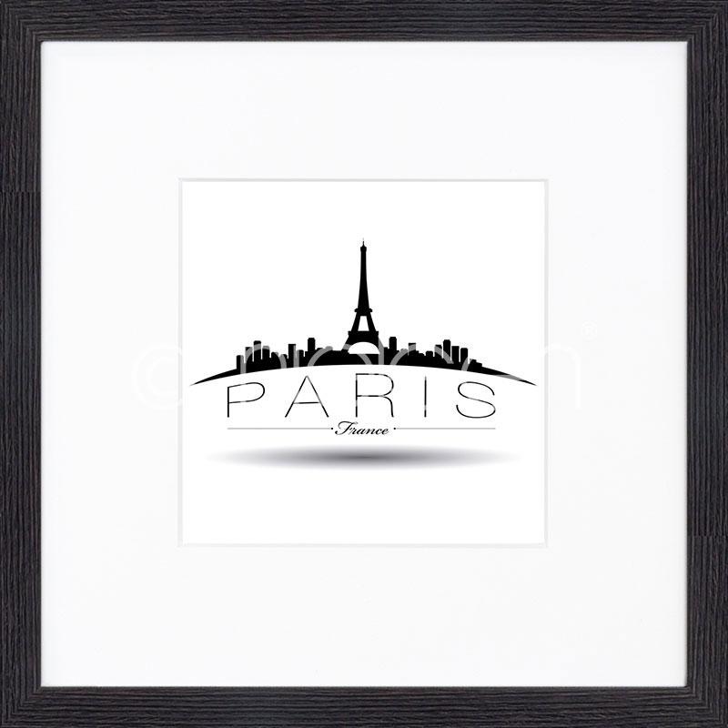 """Imagen con marco """"Paris"""" mit Marco de madera Quadrum"""