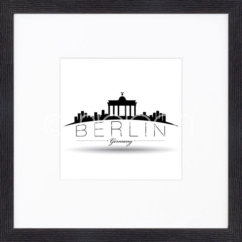 """Imagen con marco """"Berlin"""" mit Marco de madera Quadrum"""