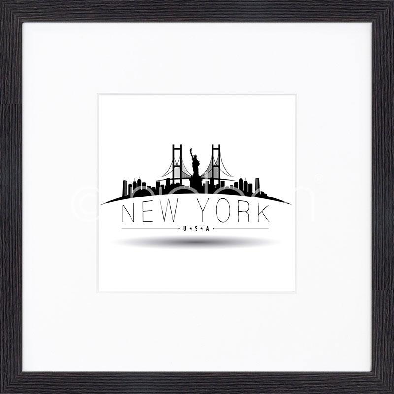 "Imagen con marco ""New York"" mit Marco de madera Quadrum"
