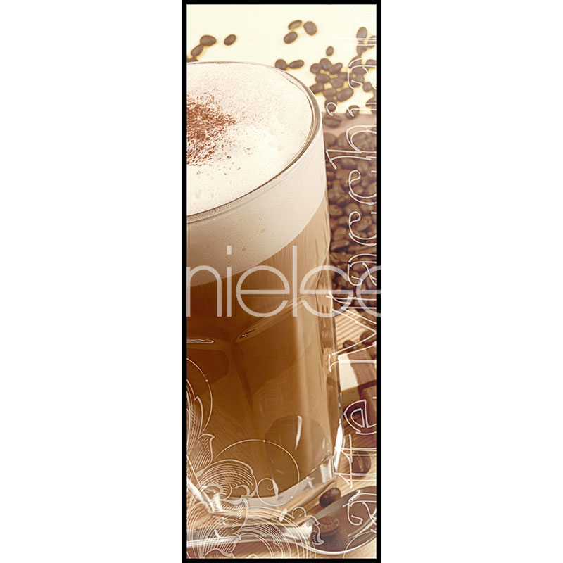 "Imagen con marco ""Coffee Time"" con marco de alumino C2"