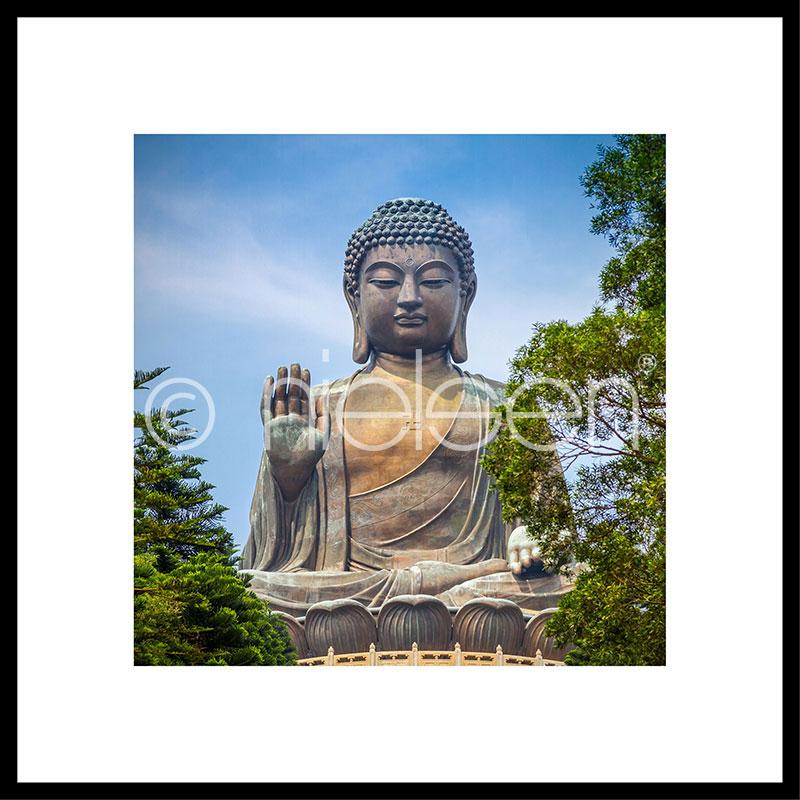 """Imagen con marco """"Statue of Buddha"""" con marco de alumino C2"""