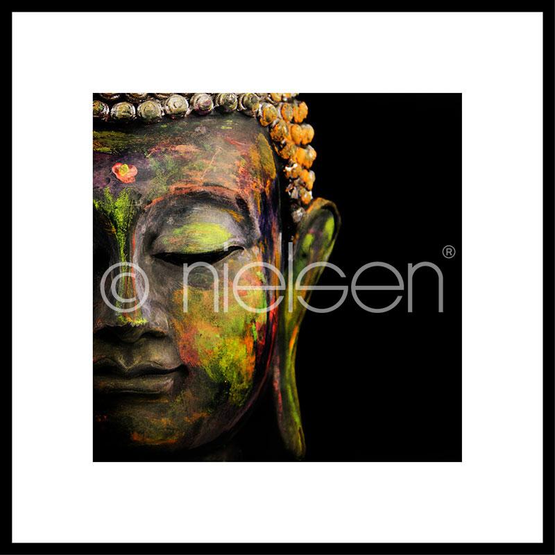 "Imagen con marco ""Buddha head"" con marco de alumino C2"