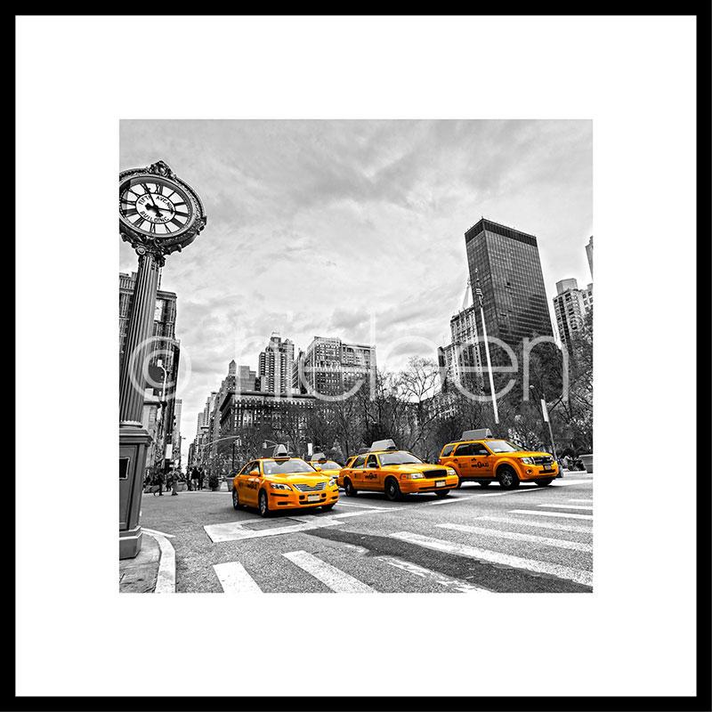 """Imagen con marco """"New York Taxi"""" con marco de alumino C2"""