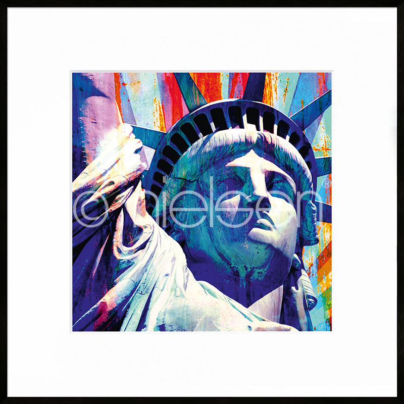"Imagen con marco ""Statue of Liberty"" con marco de alumino C2"