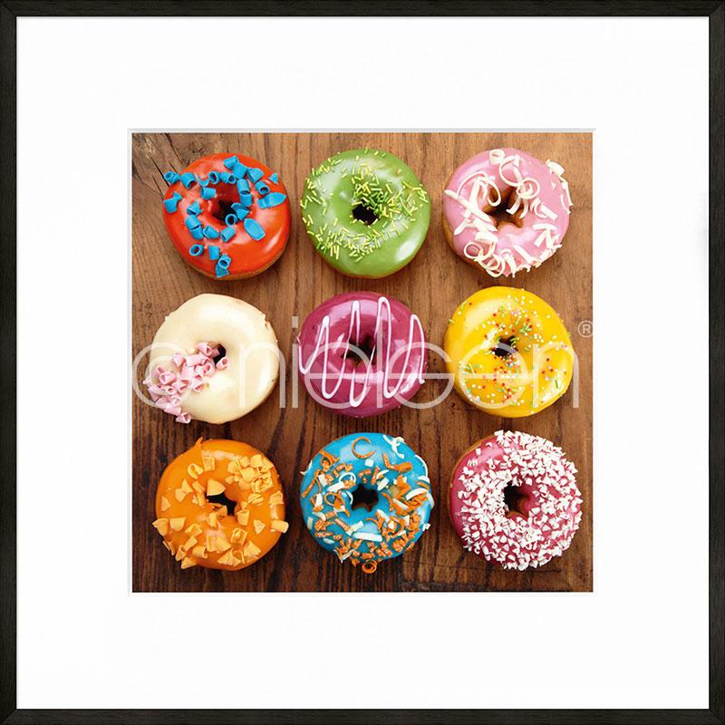 """Imagen con marco """"Donuts"""" con marco de alumino C2"""