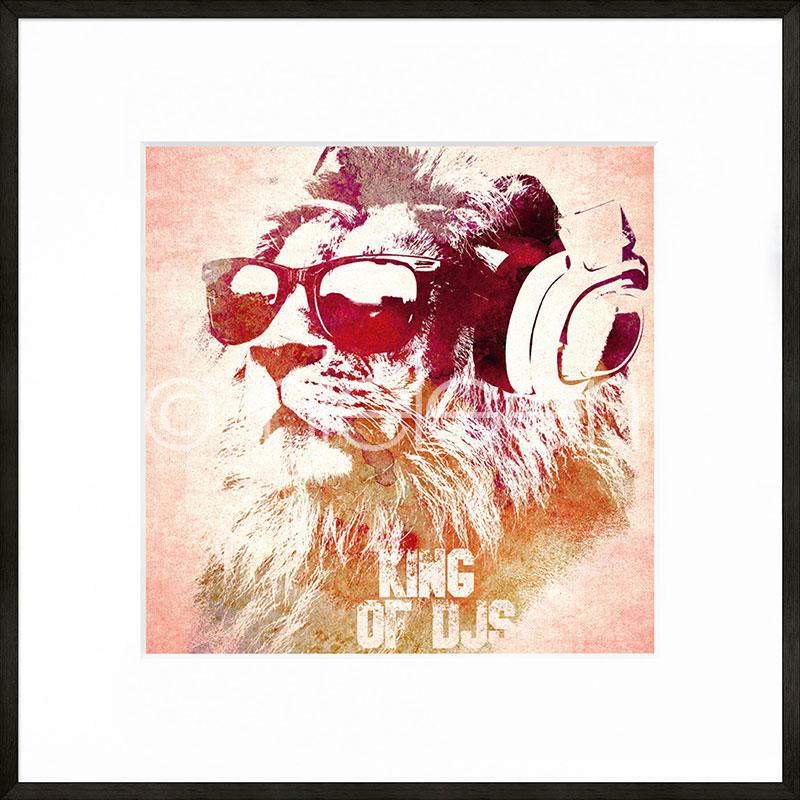 """Imagen con marco """"King of DJs"""" con marco de alumino C2"""