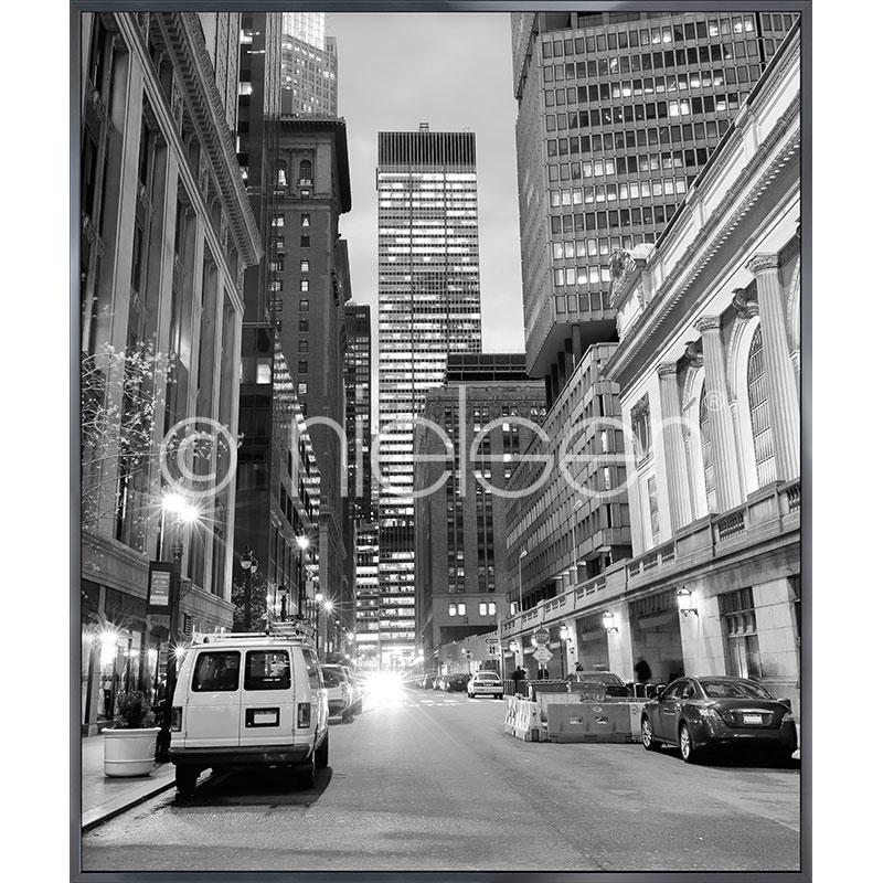 """Imagen con marco """"New York Downtown"""" con marco de alumino Alpha"""