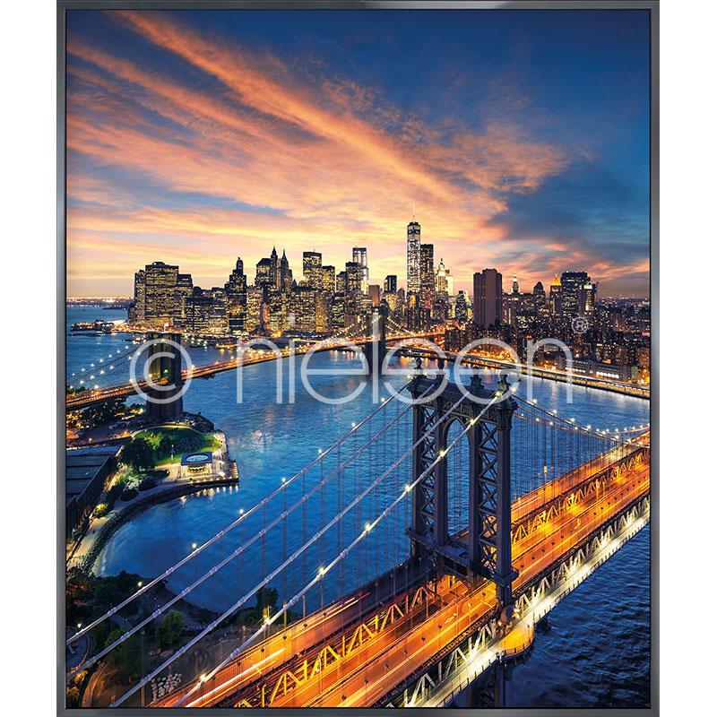 """Imagen con marco """"New York City Sunset"""" con marco de alumino Alpha"""