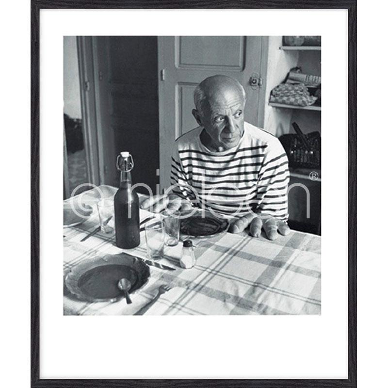 """Imagen con marco """"Les pains de Picasso 1985"""" mit Marco de madera Quadrum"""
