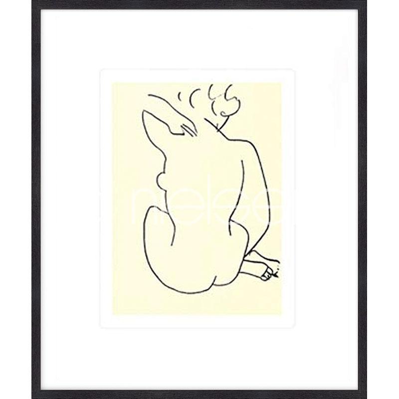 "Imagen con marco ""Nu, 1949 con Matisse"" mit Marco de madera Quadrum"