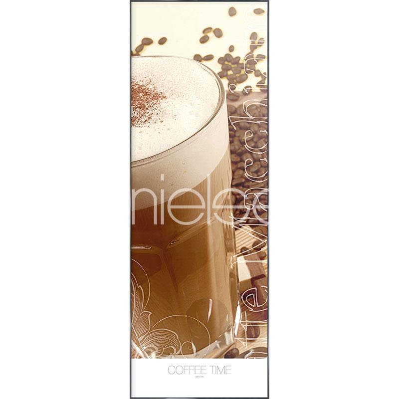 """Imagen con marco """"Coffee Time"""" con marco de alumino Alpha"""