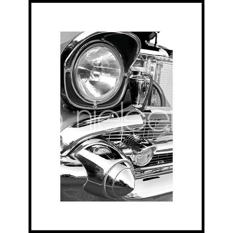 """Imagen con marco """"Car Chrome"""" con marco de alumino C2"""