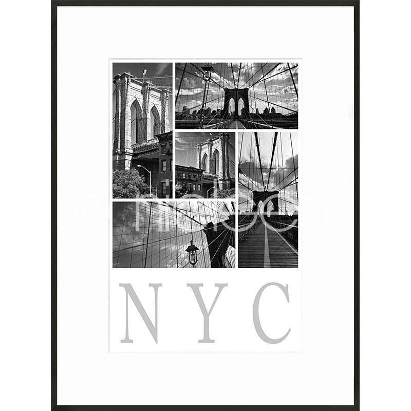"Imagen con marco ""New York City"" con marco de alumino C2"