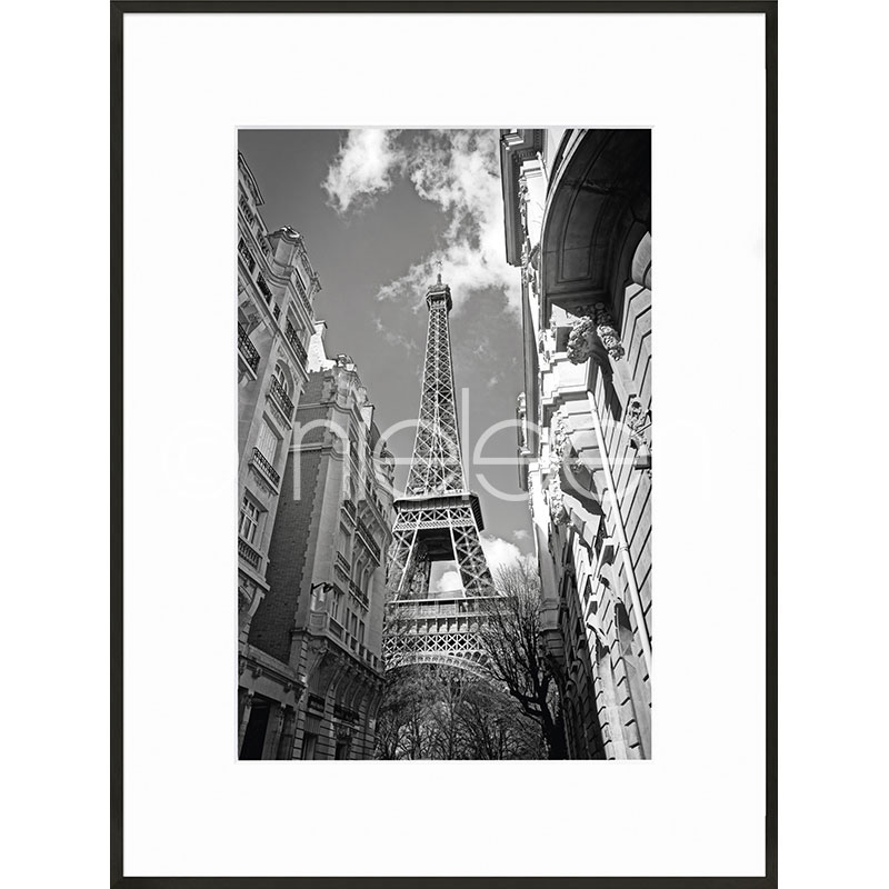 "Imagen con marco ""Eiffel Tower"" con marco de alumino C2"