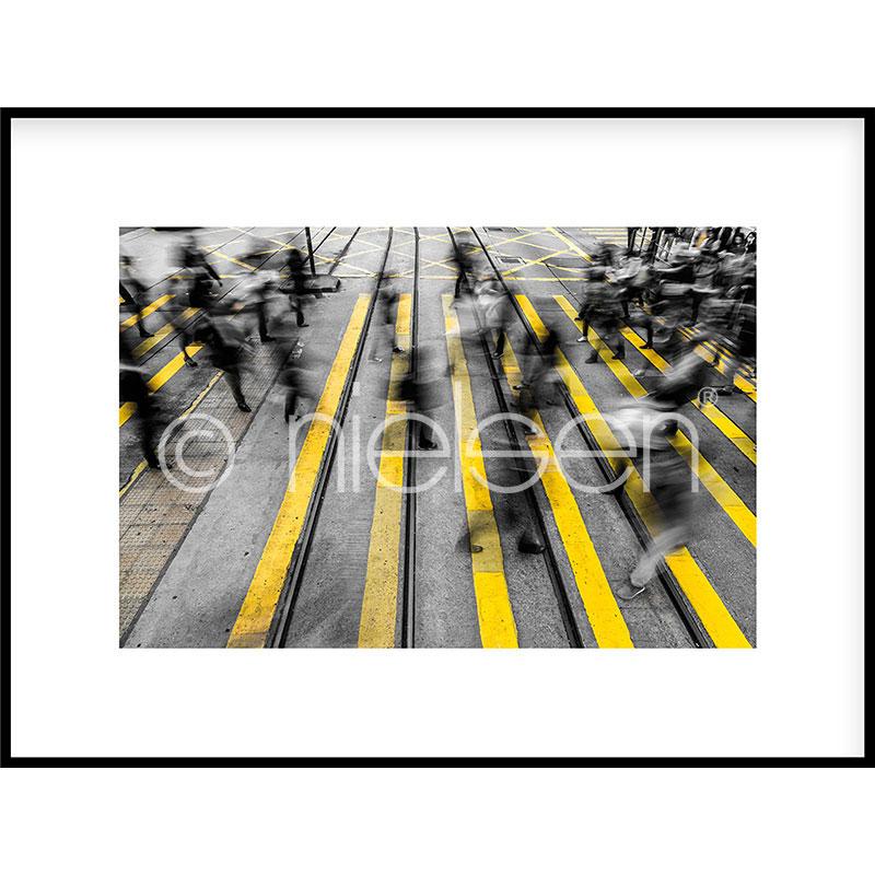 """Imagen con marco """"Zebra Crossing"""" con marco de alumino C2"""