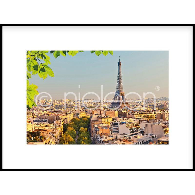 """Imagen con marco """"Paris"""" con marco de alumino C2"""