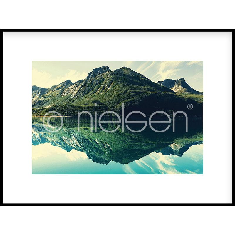 """Imagen con marco """"Mountain Lake"""" con marco de alumino C2"""