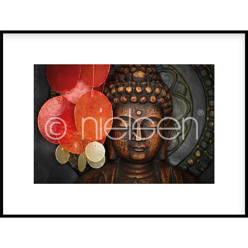 """Imagen con marco """"Buddha"""" con marco de alumino C2"""