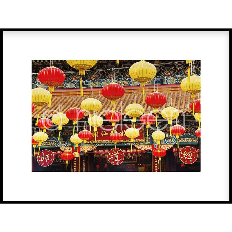 "Imagen con marco ""Buddha Temple"" con marco de alumino C2"