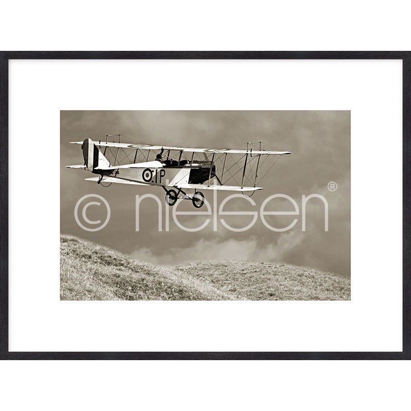 "Imagen con marco ""Historic Plane"" mit Marco de madera Quadrum"
